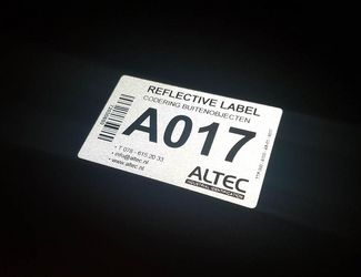 Reflective stickers wit